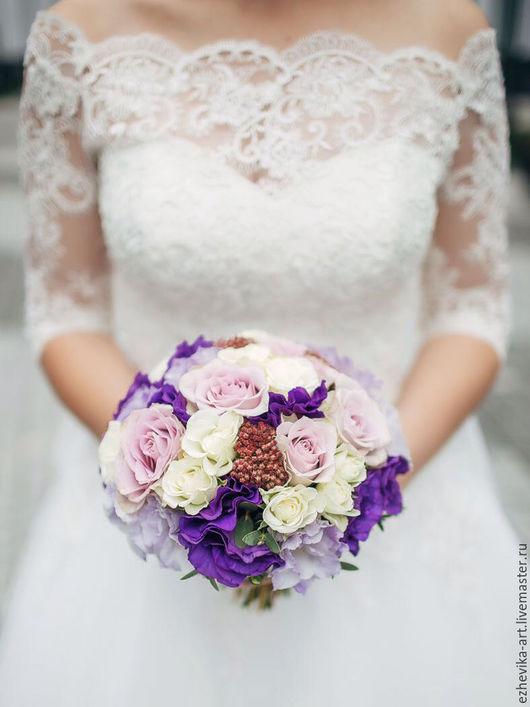 Свадебные цветы ручной работы. Ярмарка Мастеров - ручная работа. Купить Букет невесты / Свадебный букет. Handmade. Фиолетовый