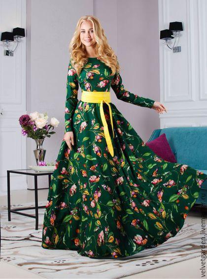 Платья ручной работы. Ярмарка Мастеров - ручная работа. Купить Платье осеннее длинное в пол Комфорт. Handmade. Осеннее платье