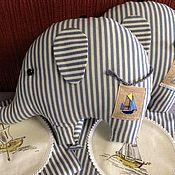 Куклы и игрушки handmade. Livemaster - original item elephant. Group in striped bathing suits. Handmade.
