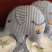 Куклы и игрушки ручной работы. Ярмарка Мастеров - ручная работа Слон. Группа в полосатых купальниках.. Handmade.