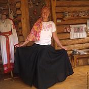 Одежда ручной работы. Ярмарка Мастеров - ручная работа юбка полу солнце на запахе. Handmade.