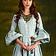 """Платья ручной работы. Ярмарка Мастеров - ручная работа. Купить Платье шелковое """"Мелисента"""". Handmade. Мятный, платье в пол, мелисента"""