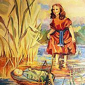 """Картины и панно ручной работы. Ярмарка Мастеров - ручная работа Картина маслом """"Младенец Моисей """". Handmade."""