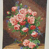 Картины и панно ручной работы. Ярмарка Мастеров - ручная работа Розы и фиалки. Handmade.
