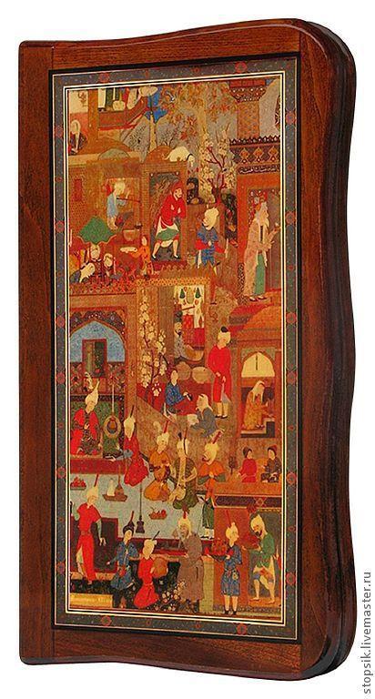 Настольные игры ручной работы. Ярмарка Мастеров - ручная работа. Купить Нарды, шашки Восточный базар (15948). Handmade. Нарды