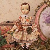"""Кукла Нина в ретро-стиле. Коллекция """"Ретро Дети""""."""