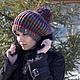 Шапки ручной работы. Шапочка бохо с помпоном.. Knitted fashion by Ekaterina Bykova. Интернет-магазин Ярмарка Мастеров. Шапочка