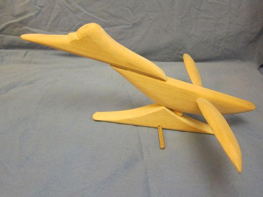 Статуэтки ручной работы. Ярмарка Мастеров - ручная работа. Купить Птица насмотрелась на самолеты.... Handmade. Птица, подарок на любой случай