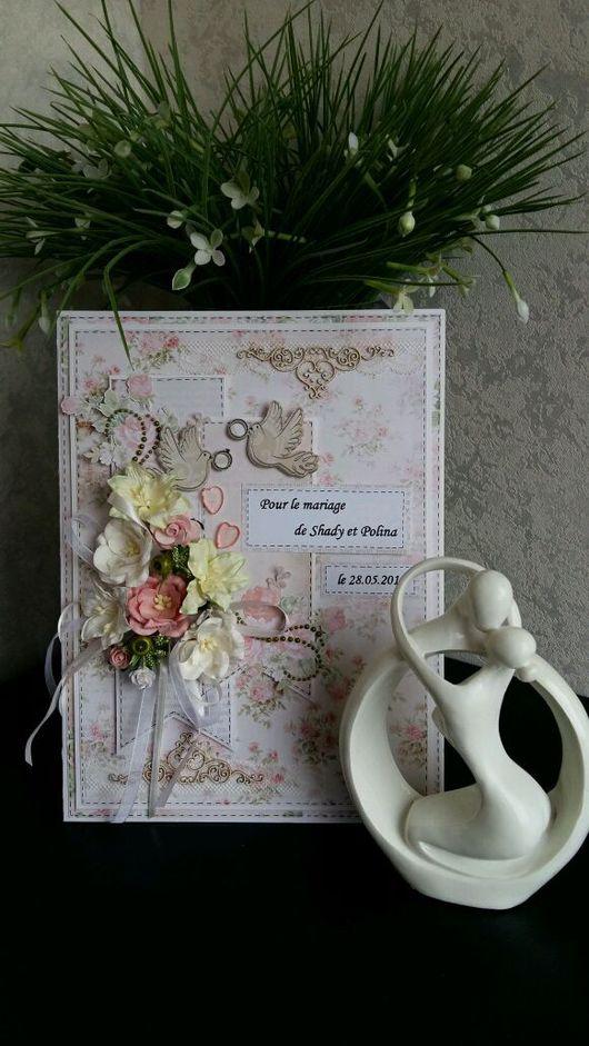 Свадебные открытки ручной работы. Ярмарка Мастеров - ручная работа. Купить Свадебная открытка / открытка на венчание (макси). Handmade.