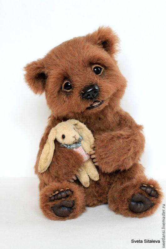 Мишки Тедди ручной работы. Ярмарка Мастеров - ручная работа. Купить Гарри. Handmade. Коричневый, эксклюзивный подарок, синтепух