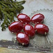 Материалы для творчества handmade. Livemaster - original item Pearl rhinestones Garnet 13h18 mm oval. Handmade.