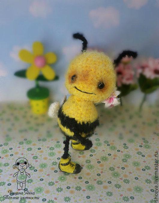 Игрушки животные, ручной работы. Ярмарка Мастеров - ручная работа. Купить Пчеленок (пчелка, игрушка пчела). Handmade. Желтый