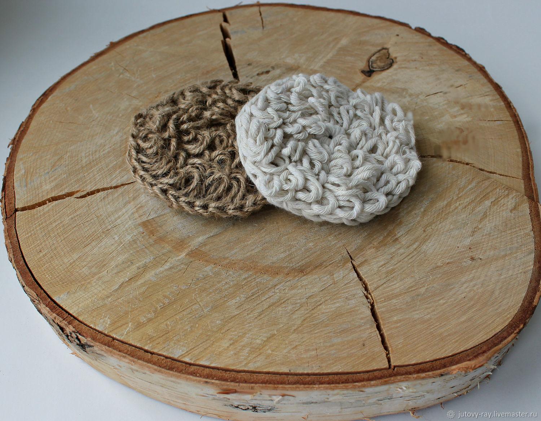 Set of bilateral sponges ' You I', Washcloths, Vologda,  Фото №1