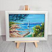 Картины и панно handmade. Livemaster - original item Mini oil painting framed