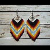 Украшения handmade. Livemaster - original item Earrings beaded. Handmade.