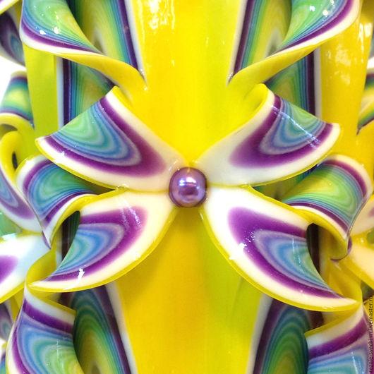 Свечи ручной работы. Ярмарка Мастеров - ручная работа. Купить Резная свеча Ромашки (арт.407) резные свечи в москве купить. Handmade.