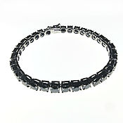 Украшения handmade. Livemaster - original item Bracelet with black diamonds to buy. Handmade.