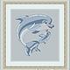 """Схема для вышивки крестиком """"Дельфины"""", Вышивка, Александров, Фото №1"""