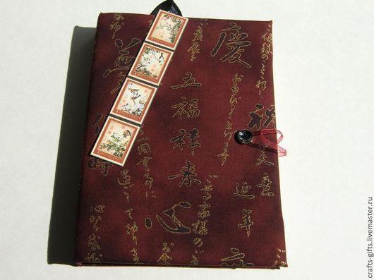 Блокноты ручной работы. Ярмарка Мастеров - ручная работа. Купить Блокнот Иероглифы. Handmade. Бордовый, блокнот в мягкой обложке, бумага