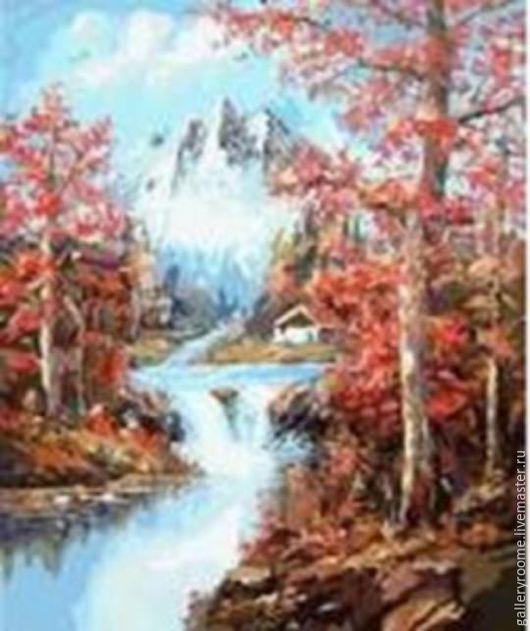 Другие виды рукоделия ручной работы. Ярмарка Мастеров - ручная работа. Купить Картина по номерам Осень в горах. Handmade. Пейзаж