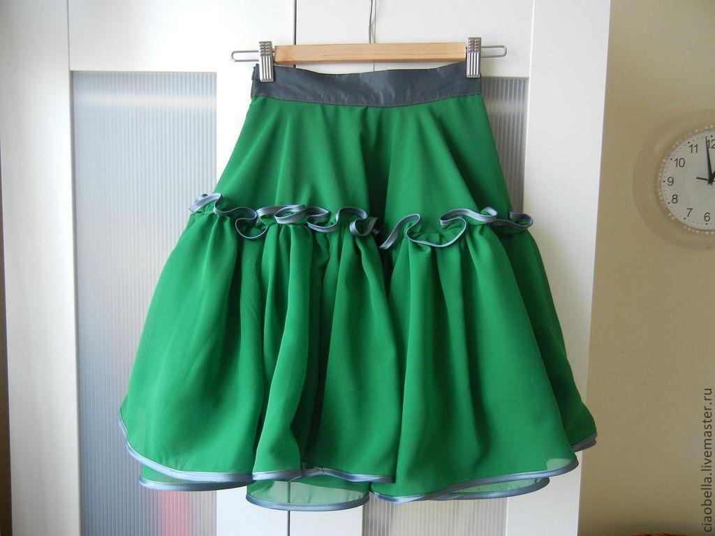 Пышная юбка из шифона