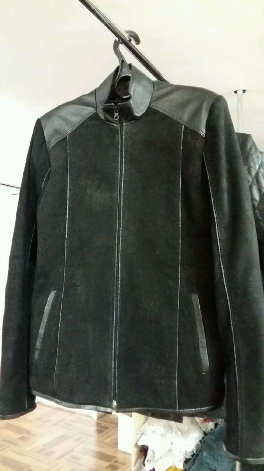 Верхняя одежда ручной работы. Ярмарка Мастеров - ручная работа. Купить Мужская кожаная куртка. Handmade. Куртка, мужская куртка