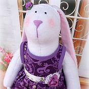 Куклы и игрушки ручной работы. Ярмарка Мастеров - ручная работа Зайка в фиолетовом. Handmade.