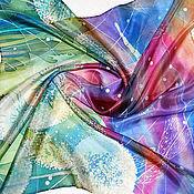 """Аксессуары ручной работы. Ярмарка Мастеров - ручная работа Батик платок """"В зените лета...."""". Handmade."""