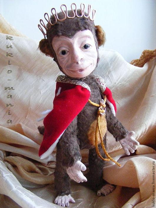 Коллекционные куклы ручной работы. Ярмарка Мастеров - ручная работа. Купить Этьен, принц Страны Обезьян. Handmade. Коричневый, doll