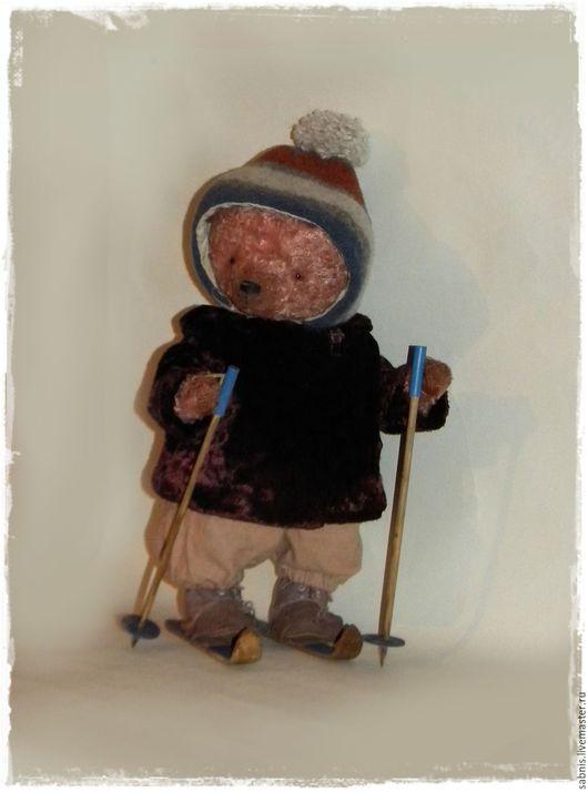 Мишки Тедди ручной работы. Ярмарка Мастеров - ручная работа. Купить Лыжница. Handmade. Комбинированный, мишка в одежке
