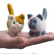 Куклы и игрушки handmade. Livemaster - original item Kitty, little. felted toy made of wool. Handmade.