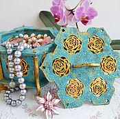 Для дома и интерьера handmade. Livemaster - original item The box is wooden openwork rose of Cairo. Handmade.