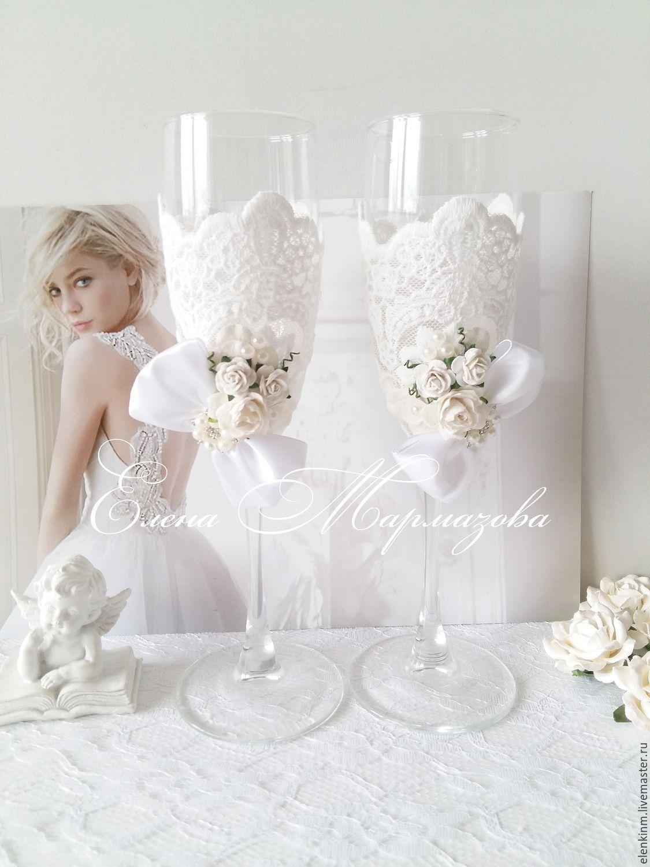 фото свадебные аксессуары бокалы
