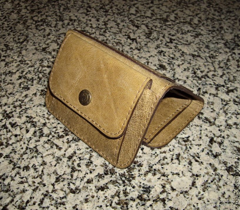 Small leather purse olive color, Wallets, St. Petersburg,  Фото №1