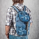Backpack denim 'Triangle', Backpacks, Saratov,  Фото №1