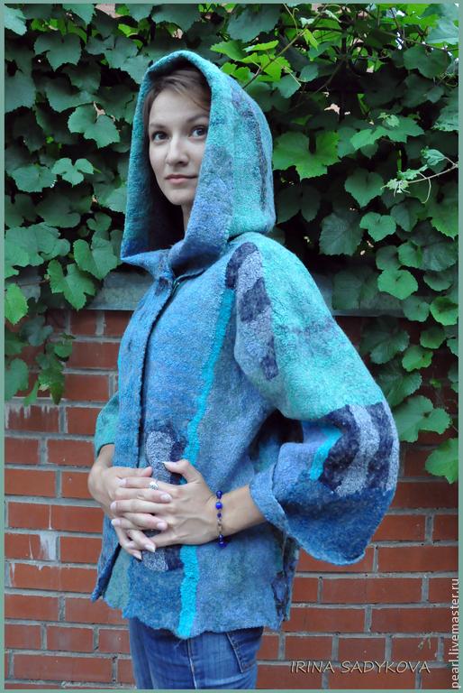 """Верхняя одежда ручной работы. Ярмарка Мастеров - ручная работа. Купить Парка """"Беломорье"""". Handmade. Синий, натуральный шелк, молнии"""