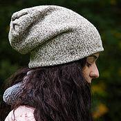 Аксессуары ручной работы. Ярмарка Мастеров - ручная работа Шапка бини шапка носок (бежевый, белый, розовый, серый, коричневый). Handmade.