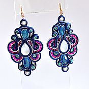 Украшения handmade. Livemaster - original item Soutache earrings to fly Exotic fruit.. Handmade.
