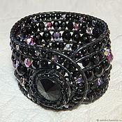 Украшения handmade. Livemaster - original item Wide bracelet Starry sky. Sparkling bracelet in the style of Chan Lu.. Handmade.