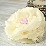 Украшения handmade. Livemaster - original item Brooch from fabric gentle. Handmade.