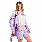 Одежда handmade. Livemaster - original item Cardigan women`s bad Girl Bad Girl Lila lavender. Handmade.