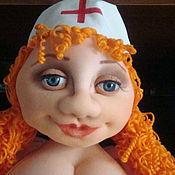 Куклы и игрушки ручной работы. Ярмарка Мастеров - ручная работа кукла- попик  из капрона Рыженькая медсестричка. Handmade.