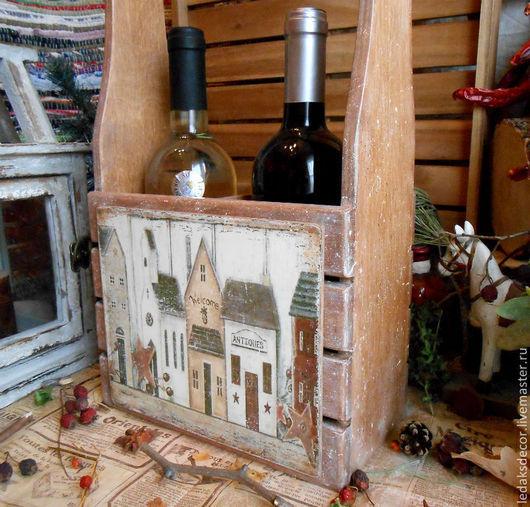 """Корзины, коробы ручной работы. Ярмарка Мастеров - ручная работа. Купить Короб для вина """"Уютный дом""""-3. Handmade."""