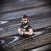 Украшения handmade. Livemaster - original item Wooden icon Parodist. Handmade.