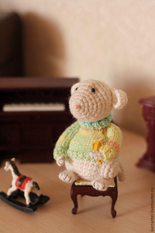 Игрушки животные, ручной работы. Ярмарка Мастеров - ручная работа. Купить Мышонок Джеймс. Handmade. Комбинированный, англия, мышка игрушка