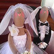 Свадебный салон ручной работы. Ярмарка Мастеров - ручная работа Зайчики свадебные 7.. Handmade.