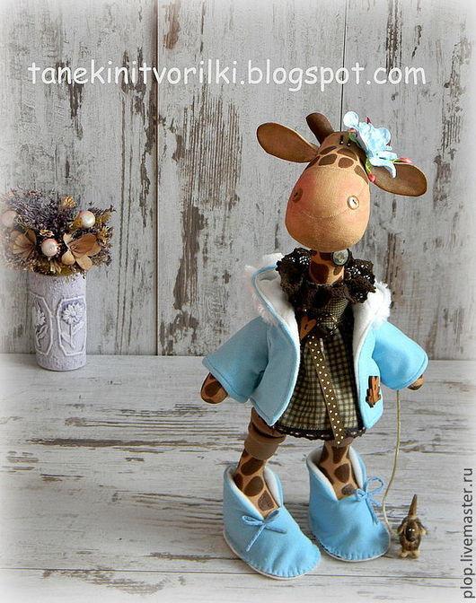"""Игрушки животные, ручной работы. Ярмарка Мастеров - ручная работа. Купить Жирафа """"Шоколад и бирюза"""". Handmade. Жирафа, бирюзовый цвет"""