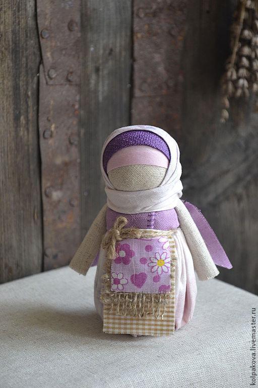 """Народные куклы ручной работы. Ярмарка Мастеров - ручная работа. Купить куколка """"Первый ангел весны"""".. Handmade. Сиреневый, ангел"""