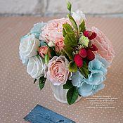 Для дома и интерьера ручной работы. Ярмарка Мастеров - ручная работа Интерьерная цветочная композиция в стиле Шебби Керамическая флористика. Handmade.