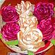 Персональные подарки ручной работы. Заказать Корзина с розами. Hand made flowers (JulyaChirkova). Ярмарка Мастеров. 8 марта подарок